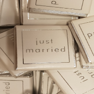 Just Married Chocolate Squares