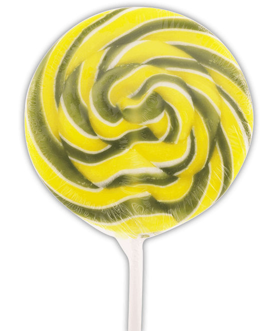Lemon and Lime Swirl Lollipop
